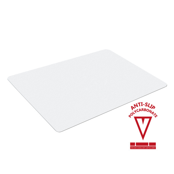 Anti-slip chairmat for hardwood floors and very low pile carpets