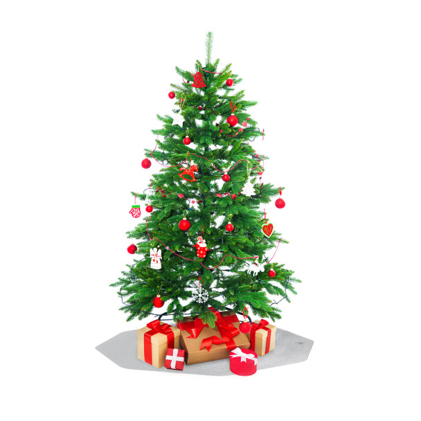 Clear Christmas tree mat for carpet