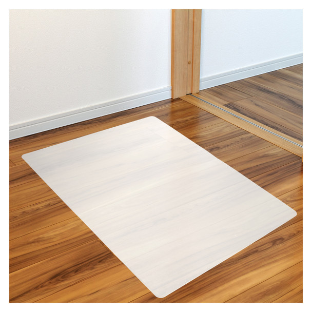 Marvelux Anti-slip Polypropylene White Chair Mat for Hard Floors and Surfaces