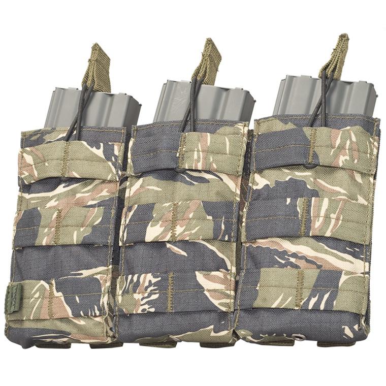 Vest Pouch- V-TAC M4/M16 Magazine Pouch Triple-TIGER STRIPE
