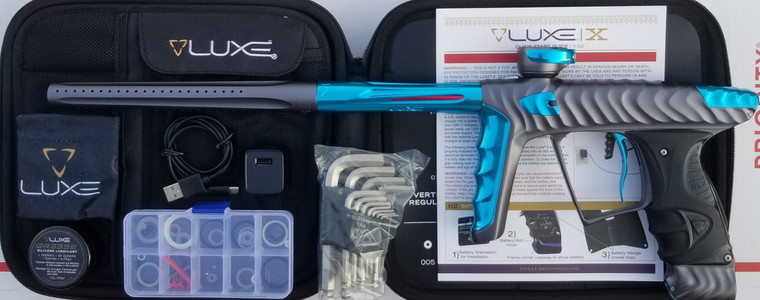 HK Army Luxe X Paintball Gun - Dust Pewter / Polished Teal