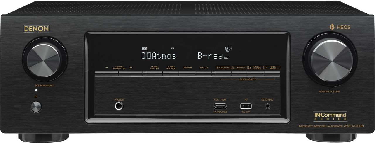 Denon AVR-X1400H 7.2 Channel AV Surround Receiver-Black