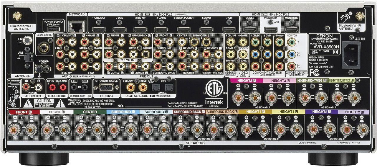 Denon® AVR-X8500H 13.2 Channel Home Theater Receiver