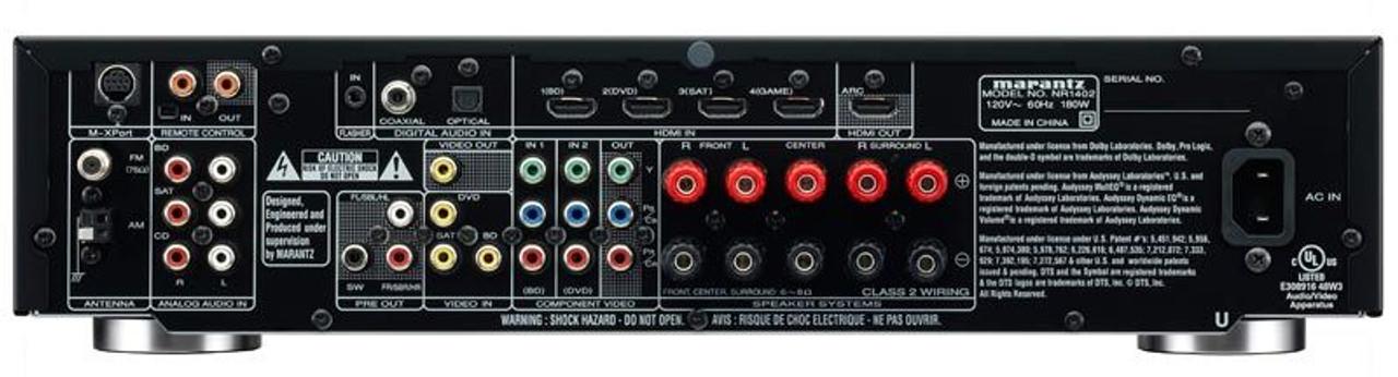Marantz® NR1609 Slim 7.2 Channel AV Receiver