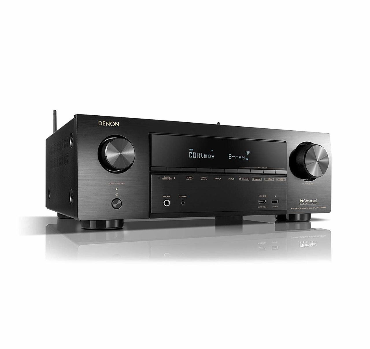 Denon® AVR-X1500H 7 2 Channel Home Theater Receiver
