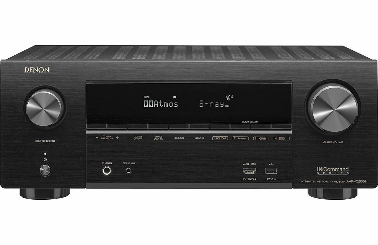 Denon® AVR-X2500H 7.2 Channel 4K Home Theater Receiver