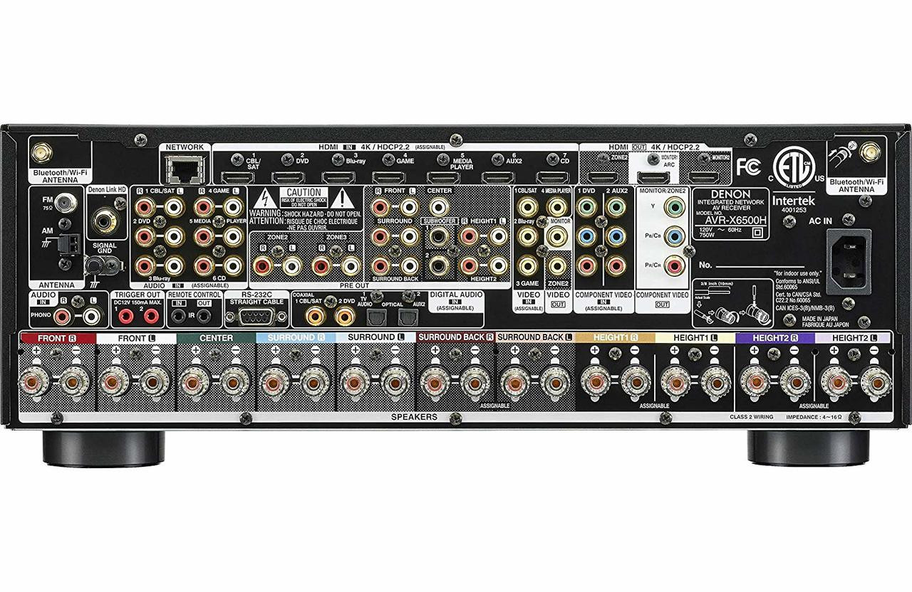Denon® AVR-X6500H 11.2 Channel 4K A/V Receiver