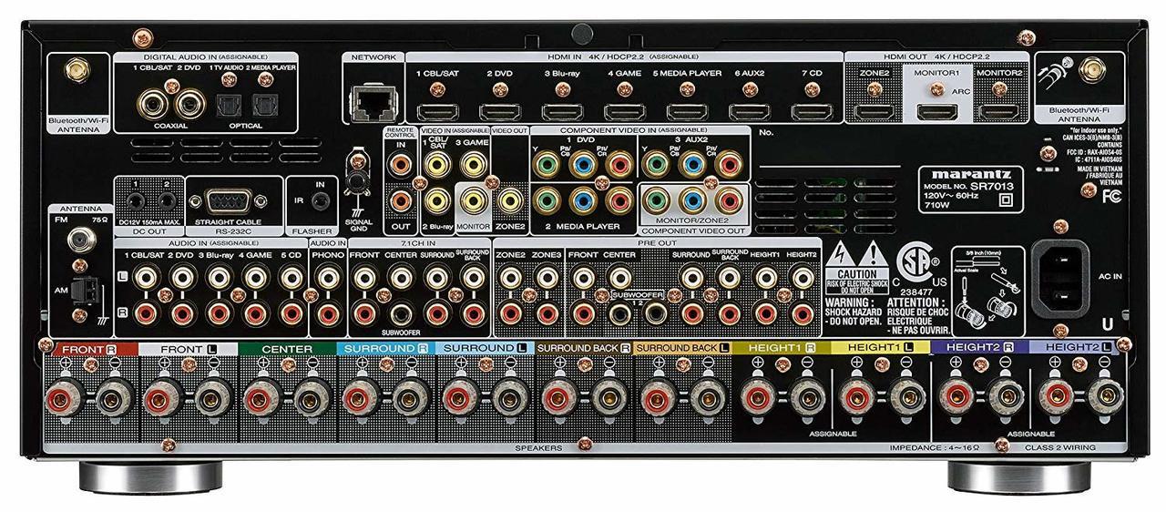 Marantz® SR7013 9.2 Channel 4K Ultra HD AV Receiver