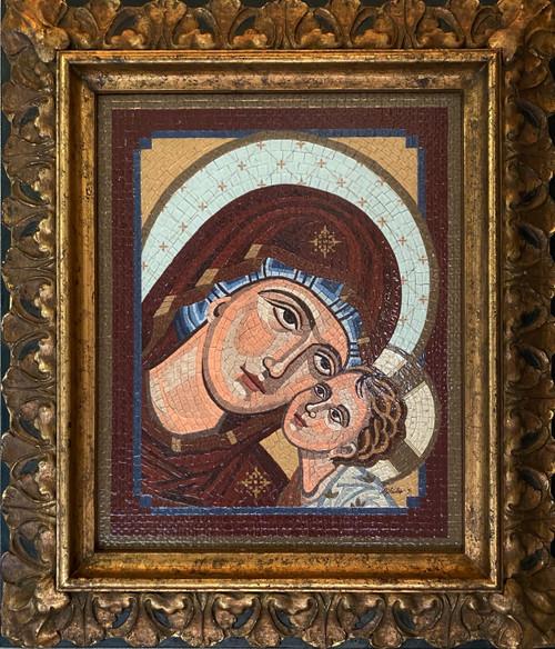 Madonna & Child / Greek - Original Mosaic
