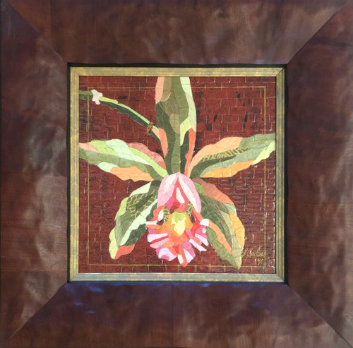 Orchid on Red / Giclee'