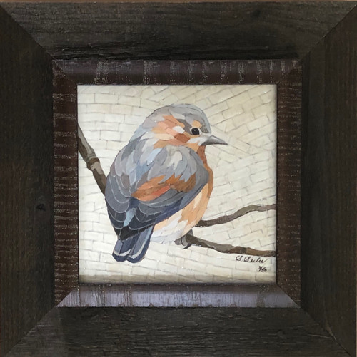 Admiration Bird / Bluebird (mosaic) - Giclee' 3/50