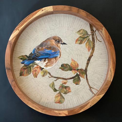 Autumn Morn / Female Eastern Bluebird - Giclee' 3/50