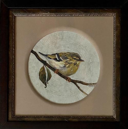 Palm Warbler / Round - Giclee' AP