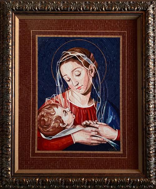 Madonna & Child / Metal - Giclee' AP
