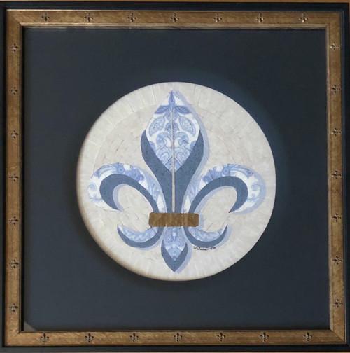 Fleur-de-lis / Blue - Giclee' 2/50