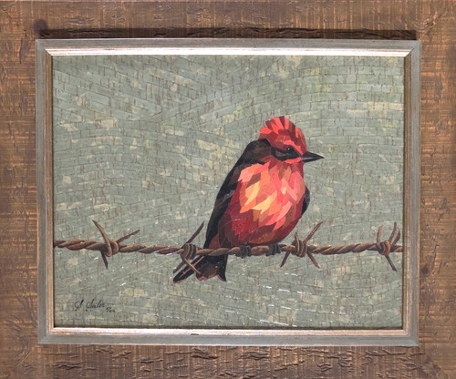 On the Barb / Verm Flycatcher - Giclee' 5/50