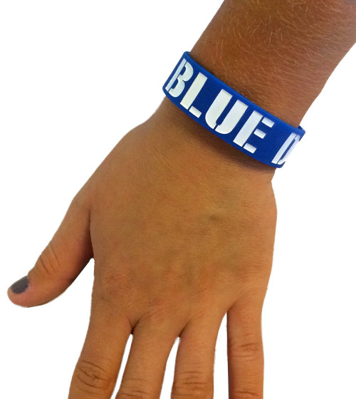 Blue Devils Silicone Bracelet
