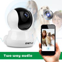 Indoor Wifi IP Camera With 2 Way Audio, PTZ And Motion Sensor Alarm