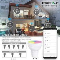 WiFi GU10 Smart Light Bulb RGB+W+WW