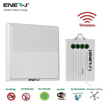 1 Gang Wireless Kinetic Wall Switches For Smart Home White Body