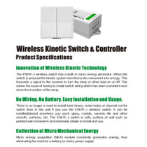 2 Gang Wireless Kinetic Wall Switches For Smart Home White Body