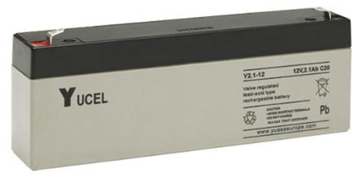 Yuasa Yucel 2.1-12AH.  12V.2.1AH Rechargeable Battery (suitable for Astec Control Panels)