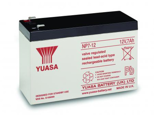 YuasaNP7-12 12Volt 7AH Rechargeable Battery
