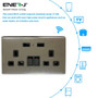 13A Smart WiFi Twin Wall Sockets With 2 USB Ports - Silver