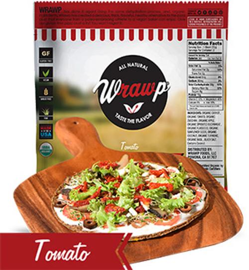 Wrawps Tomato Raw Pizza Crust