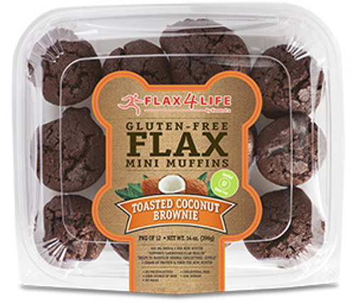 Flax 4 Life Toasted Coconut Brownie Mini Muffins