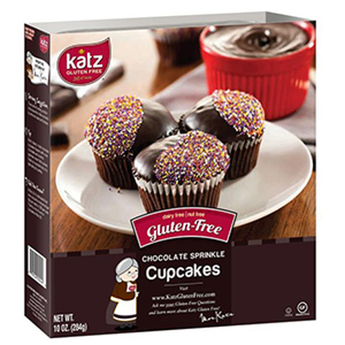Katz Gluten Free Chocolate Sprinkle Cupcakes