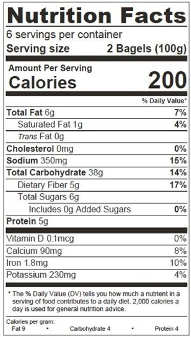 O'Doughs Thins Vegan Pumpernickel Bagels