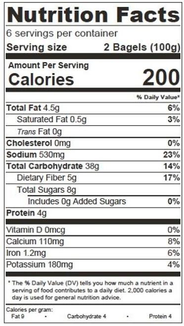O'Doughs Thins Vegan Everything Bagels