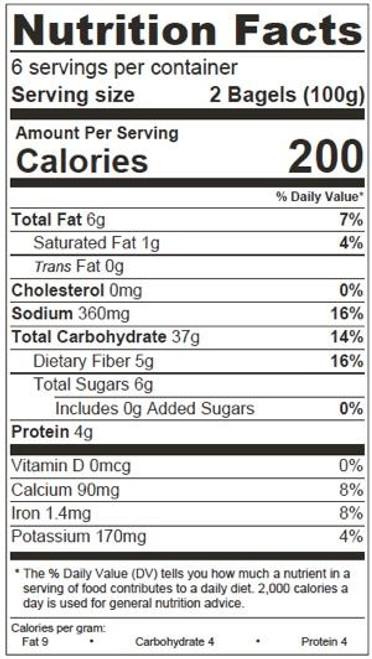 O'Doughs Thins Vegan Sesame Bagels