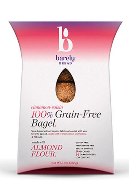 Barely Bread Gluten-Free Cinnamon-Raisin Grain Free Bagels (FROZEN)