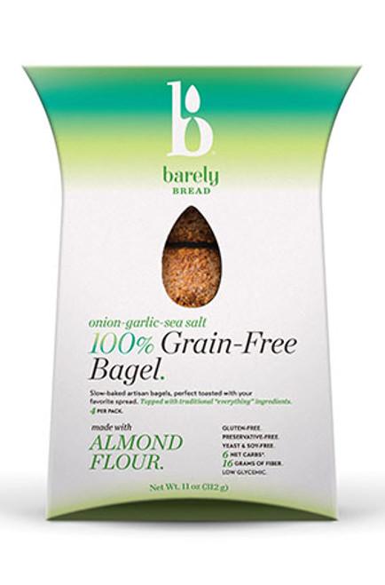 Barely Bread Gluten-Free Onion-Garlic Grain Free Bagel (FROZEN)