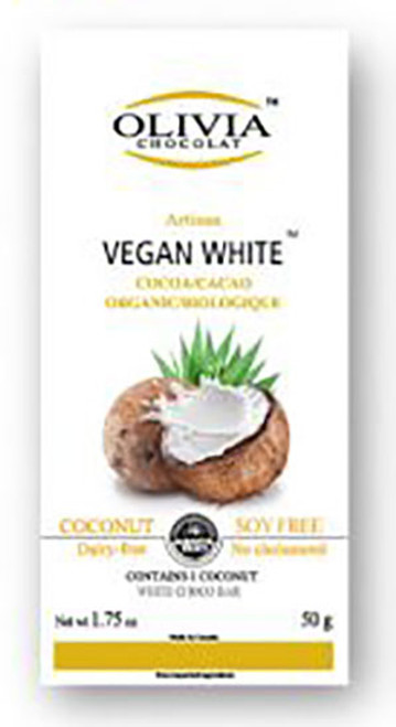 Olivia Chocolate Vegan White Chocolate Bar