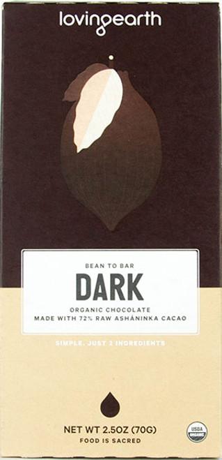 Loving Earth Vegan  72% Raw Dark Chocolate Bar