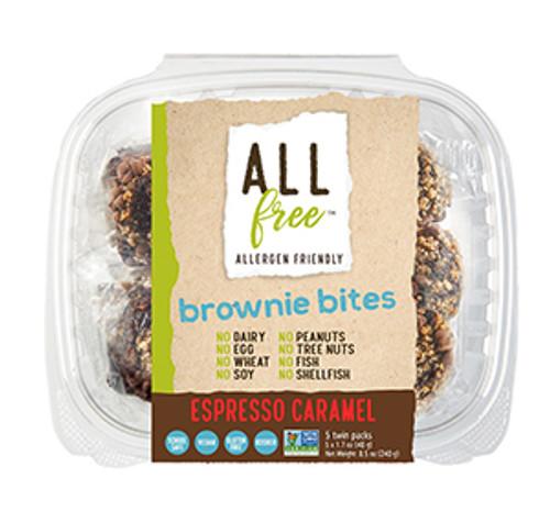All Free Espresso Caramel Chocolate Brownie Bites