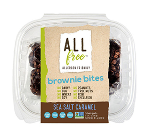 All Free Salted Caramel Brownie Bites
