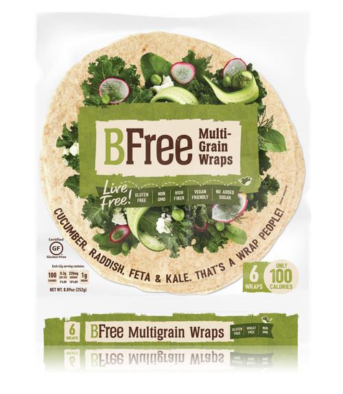 BFree Gluten Free Multigrain Wraps (6/pk) (FROZEN)