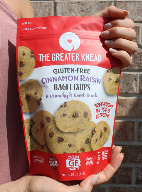 The Greater Knead Gluten Free Cinnamon Raisin Bagel Chips