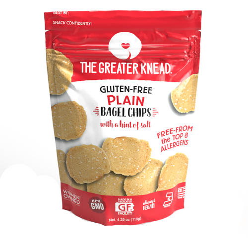 The Greater Knead Gluten Free Plain Bagel Chips