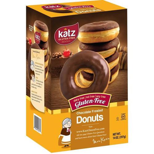 Katz Gluten Free Chocolate Frosted Donuts (6/pk) (FROZEN)