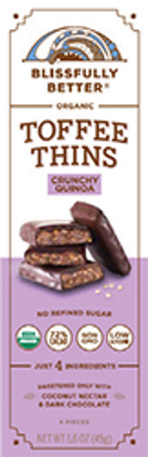 Blissfully Better Gluten Free Toffee Crunch Quinoa Thins