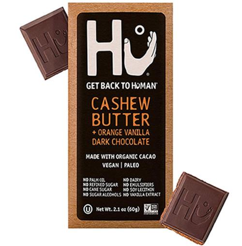 Hu Kitchen Gluten Free Orange Vanilla Cashew Butter Dark Chocolate Bar