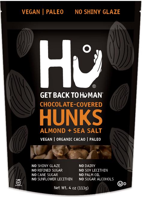 Hu Kitchen Gluten Free Chocolate Covered Hunks, Almond + Sea Salt