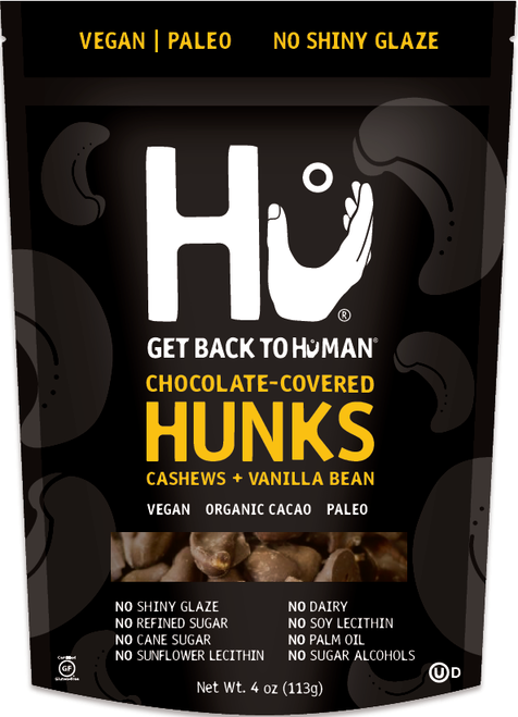Hu Kitchen Gluten Free Chocolate Covered Hunks, Cashews + Vanilla