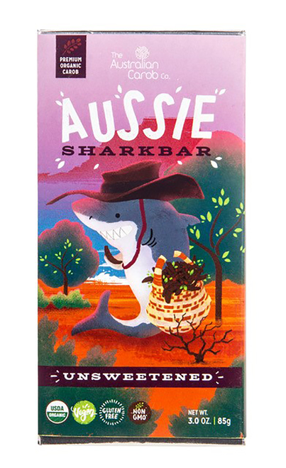 The Australian Carob Co. Unsweetened Carob Aussie SharkBar