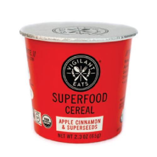 Vigilant Eats Gluten Free Apple Cinnamon Superseeds Superfood Cereal